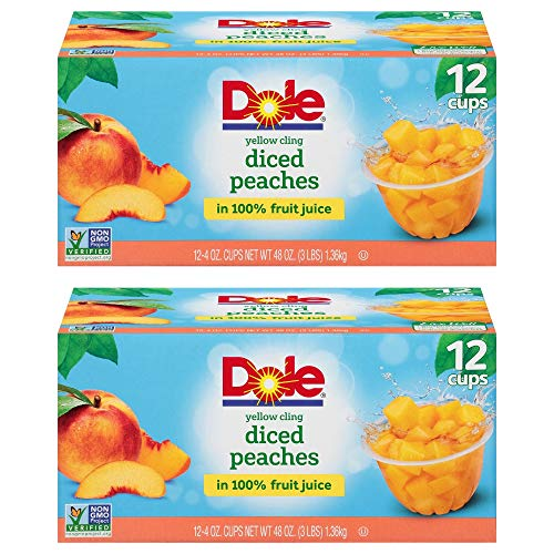 Dole Fruit Bowls in 100% Fruit Juice Yellow Cling Diced Peaches...