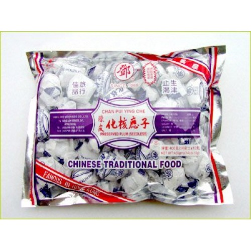 Dried Plum Fruit Candy - Chan Pui Ying Che - 14 Oz 400 G