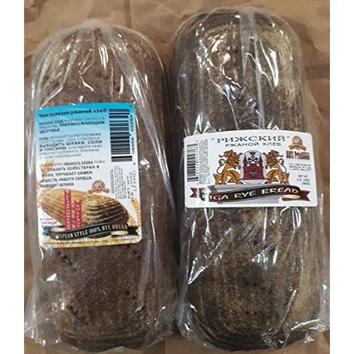 European Style 100% Rye Bread & Riga Rye Bread 1 Loaf Each