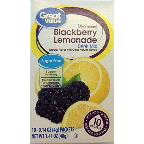 Great Value Sugar free Low calorie Blackberry Lemonade Drink Mix...