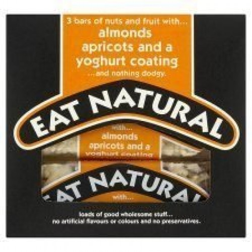 Eat Natural Yoghurt Coated Almond & Apricot Bars 3x50g