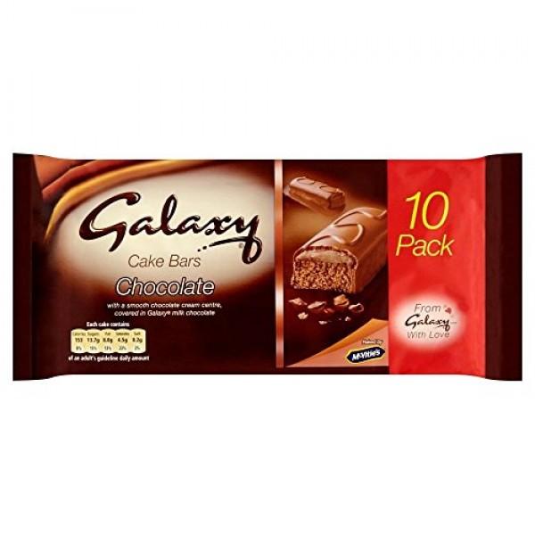 McVities Galaxy Cake Bars 10 per pack - Pack of 2