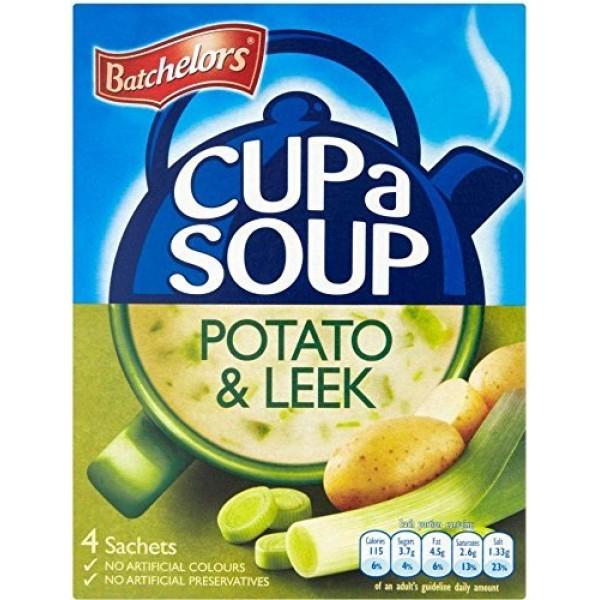 Batchelors Cup a Soup Creamy Leek & Potato 4 per pack - 107g -...