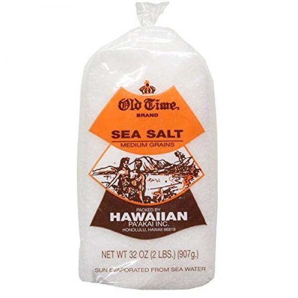 Hawaiian White Sea Salt From Hawaii Islands - 2lb Bag
