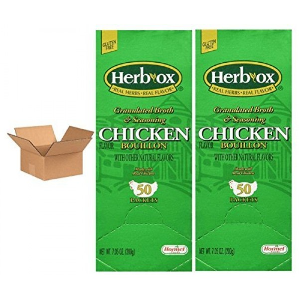 Hormel Herb Ox Chicken Bouillon 50 Packets Case of 2