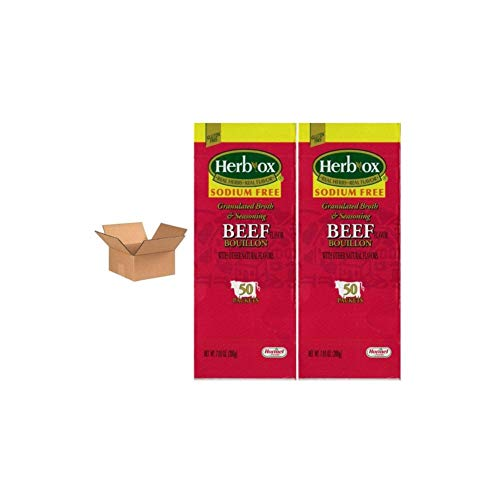 Hormel Herb Ox Beef Bouillon Sodium Free 50 Packets (Case of 2)