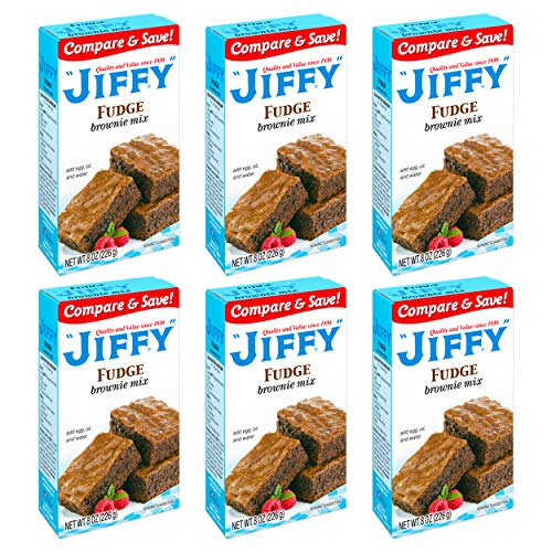 Jiffy Fudge Brownie Mix, 8 Ounce Boxes Pack of 6