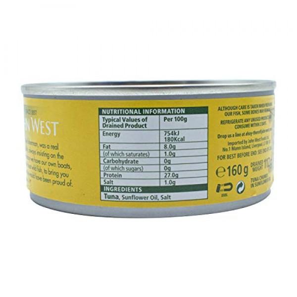 John West Tuna Chunks Sunflower Oil 4 X 160G