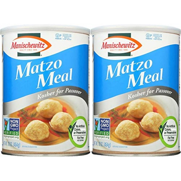 Manischewitz Matzo Meal Passover Canis, 16 oz Can Pack of 2, To...