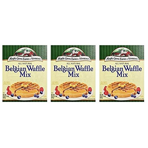 Maple Grove Farms All Natural Belgian Waffle Mix, 24 ounce Pack...