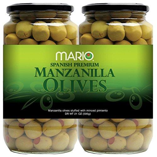 Mario Spanish Premium Manzanilla Olives 21 oz. jars, 2 ct.