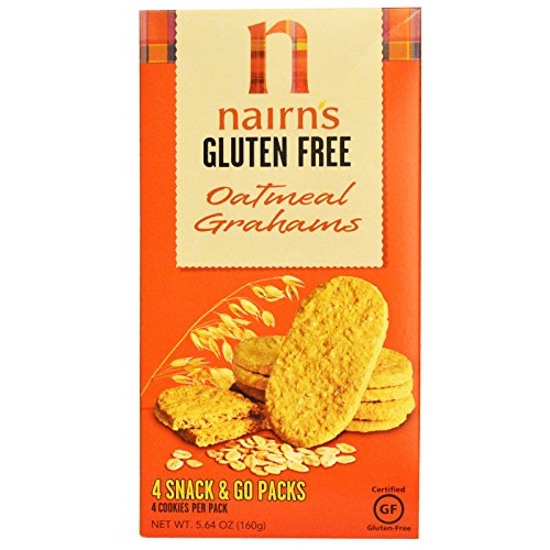 Nairns Inc, Gluten Free, Oatmeal Grahams, 5.64 ozPack of 4