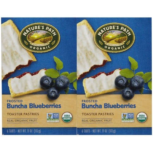 Natures Path Frosted Toaster Pastry, Blueberry, 11 oz, 6 ct, 2 pk
