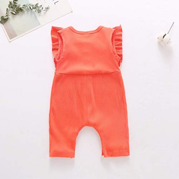 Shan-S 2020 New Cute Infant Baby Boys Girls Sleeveless Color Sol...