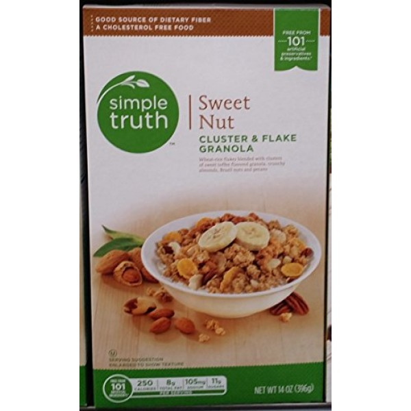 Simple Truth Sweet Nut Cluster & Flake Granola 14 oz Pack of 3