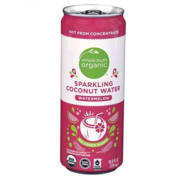 Simple Truth Organic Sparkling Watermelon Flavored Coconut Water...