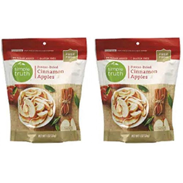 Simple Truth Freeze-Dried Cinnamon Apples 1 oz Pack of 2