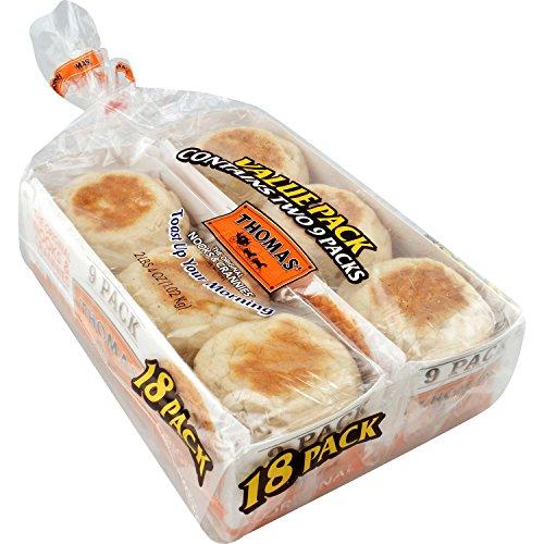 Thomas Original English Muffins 18 pk. pack of 2