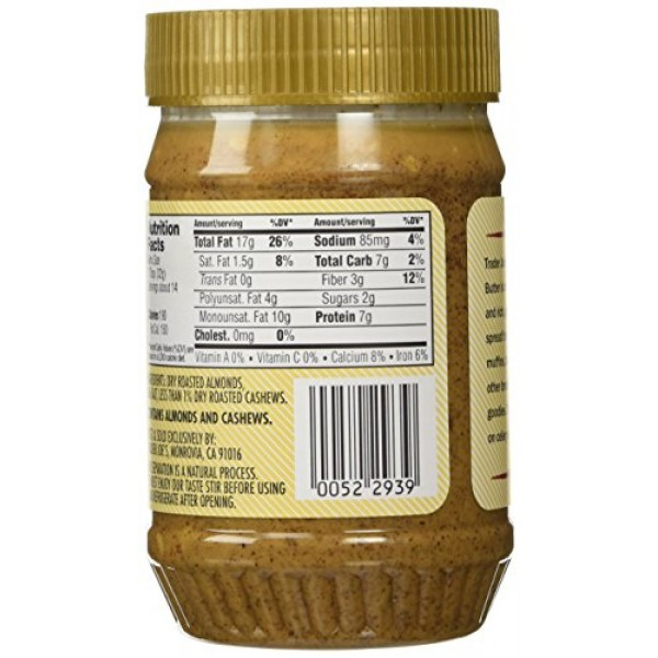 Trader Joes Crunchy Almond Butter Salted 2 Pack