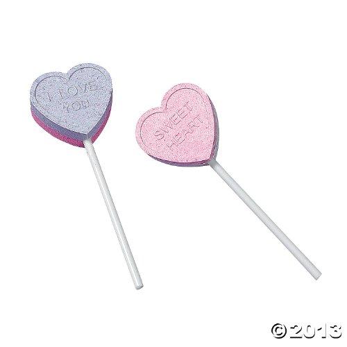 Valentine Conversation Heart Lollipops
