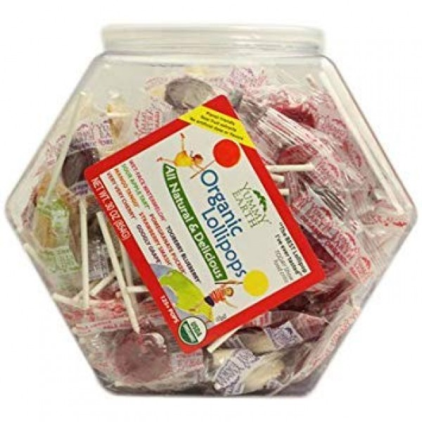 Yummy Earth Counter Top Bin Lollipops Assorted Flavors - 30 Oz -...