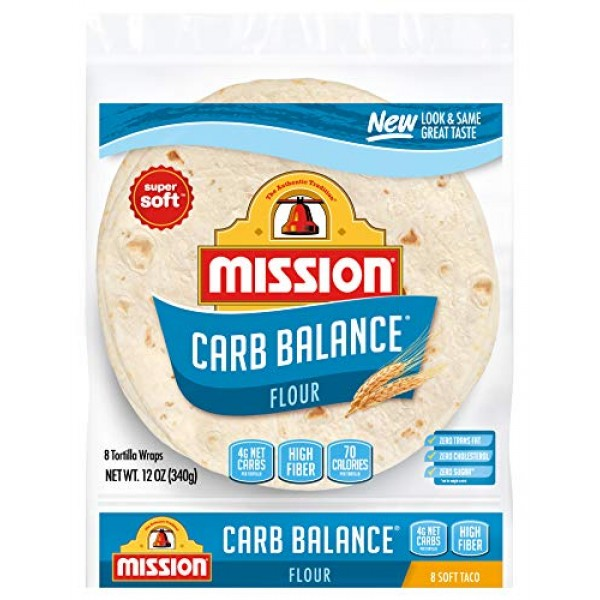 Mission Carb Balance Soft Taco Flour Tortillas | Low Carb, Keto ...