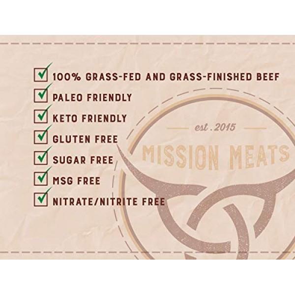Mission Meats Keto Sugar Free Grass-Fed Beef Snacks Sticks Non-G...