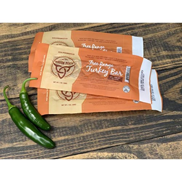 Mission Meats SPICY Keto Sugar Free Jalapeno Pepper Free Range T...