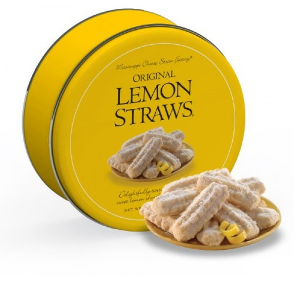 Mississippi Cheese Straw Company Original Lemon Straws in Gift T...