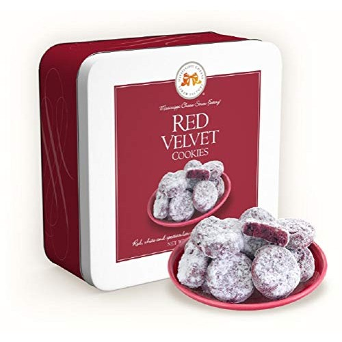 Mississippi Cheese Straw Factory Gift Tin Red Velvet Cookies Re...