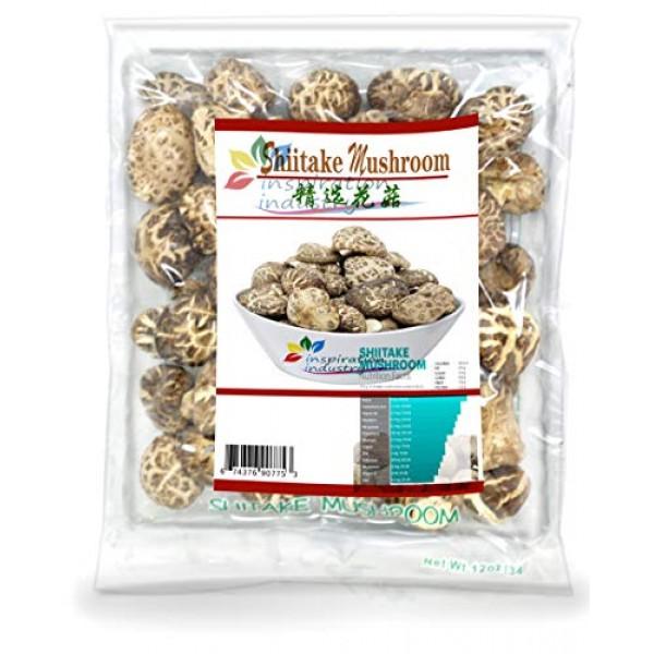 MIT Shitake Mushrooms, Nature Grade A Dried Mushrooms, Net Wt. 1...