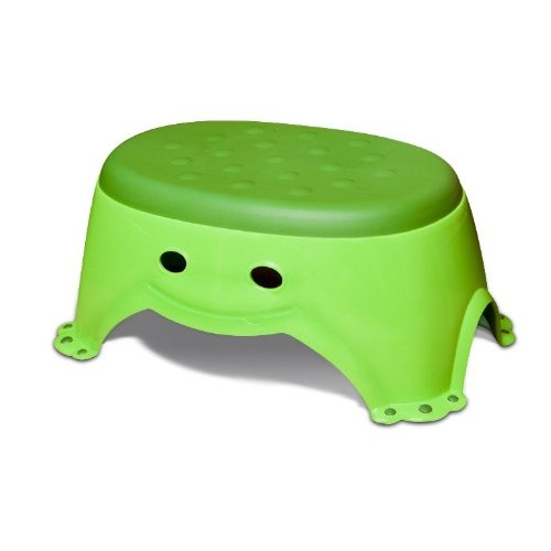 Mommys Helper Step Up Non-Slip Stepstool Froggie Collection, Green