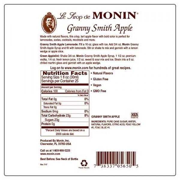 Monin - Desert Pear Syrup, Bold Flavor of Prickly Pear Cactus, N...