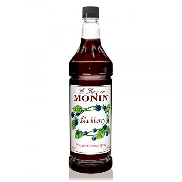 Monin - Blackberry Syrup, Soft and Succulent, Great for Cocktail...