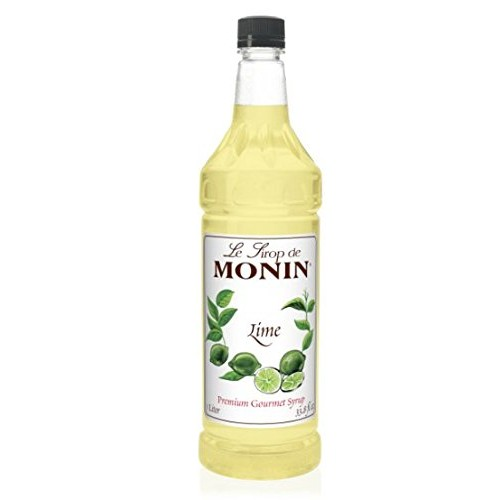 Monin Flavored Syrup, Lime, 33.8-Ounce Plastic Bottle 1 liter