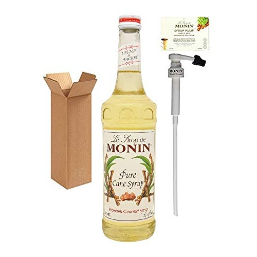 Monin Pure Cane Syrup, 25.4-Ounce 750 ml Glass Bottle with Mon...