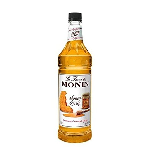 Monin Honey Syrup - Premium Gourmet Syrup | 33.8 oz