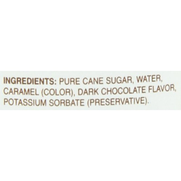 Monin Dark Chocolate, 48-Ounce Packages Pack of 4
