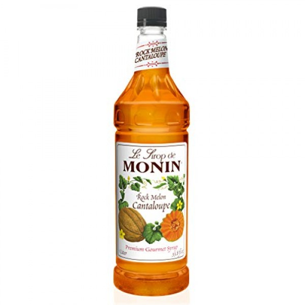 Monin Flavored Syrup, Rock Melon Cantaloupe, 33.8-Ounce Plastic ...