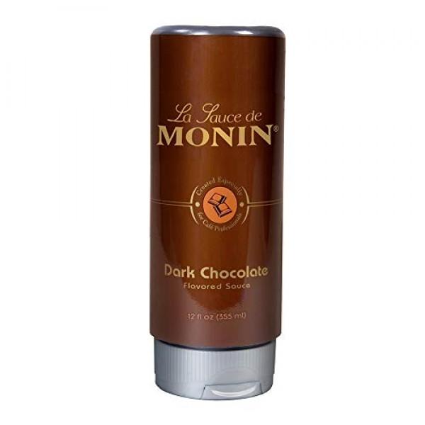 Monin - Gourmet Dark Chocolate Sauce, Velvety and Rich, Great fo...