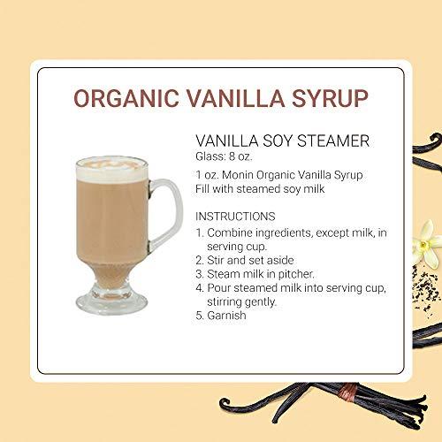 Monin - Organic Vanilla Syrup, Naturally Smooth Sweetness,