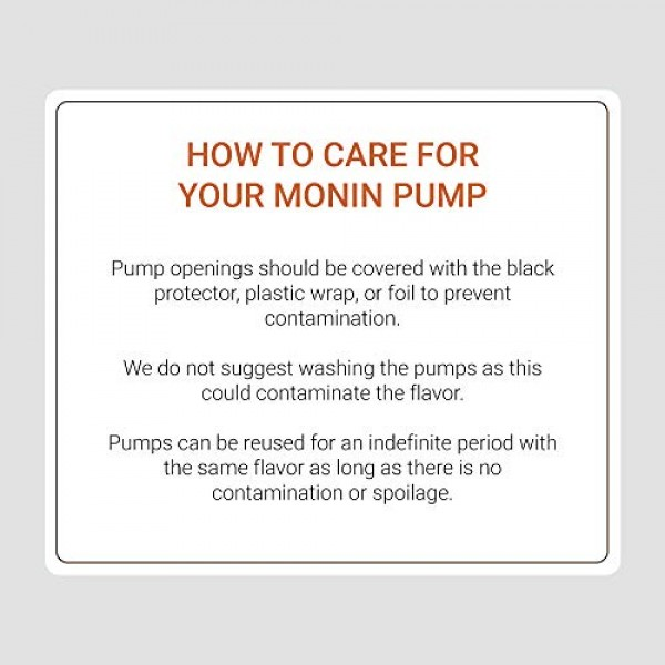 Monin - Syrup Pump, Only Compatible with 1 Liter Plastic Bottles...