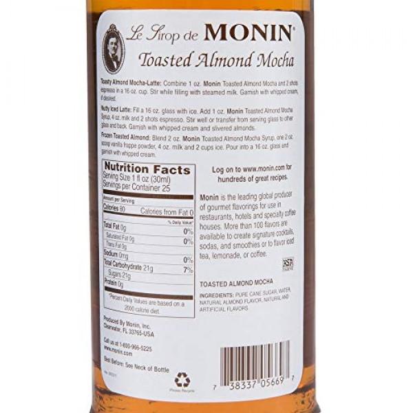 Monin Toasted Almond Mocha Syrup 750ML