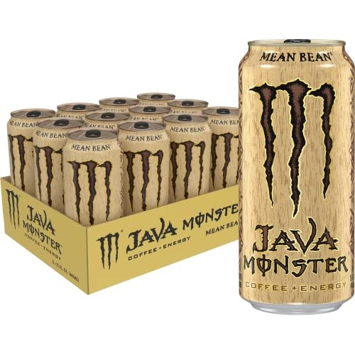 Java Monster Mean Bean, Coffee + Energy Drink, 15 Ounce Pack of...