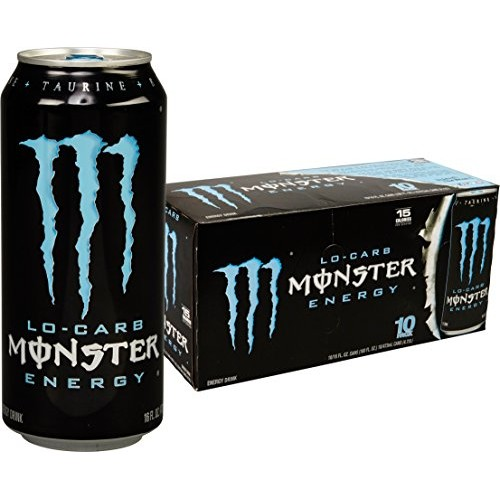 Lo-Carb Monster Energy, Energy Drink, 16 Ounce Pack of 20