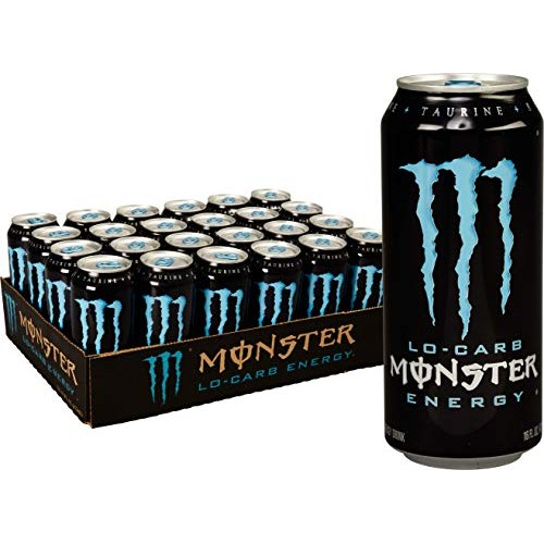 Monster Energy, Lo-Carb Monster, Low Carb Energy Drink, 16 Ounce...