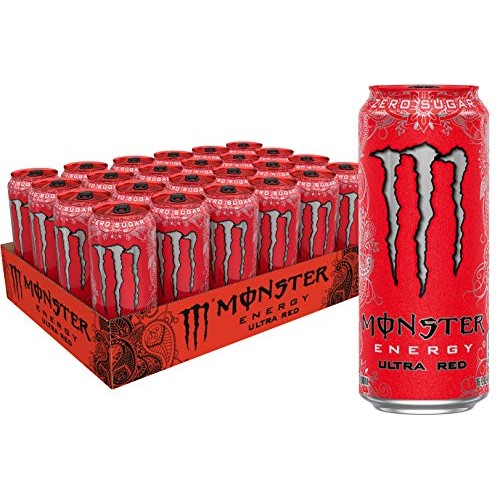 Monster Energy Ultra Red, Sugar Free Energy Drink, 16 Ounce Pac...