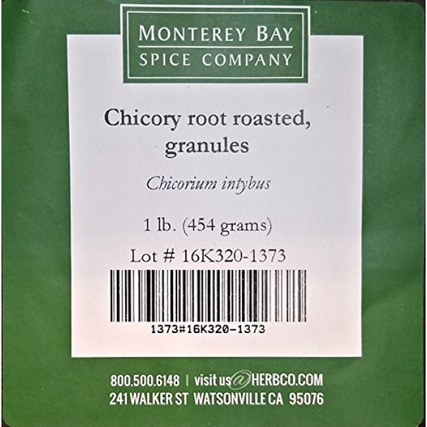 CHICORY ROOT Roasted Granules 1 LB – NATURAL Coffee and Tea Subs...