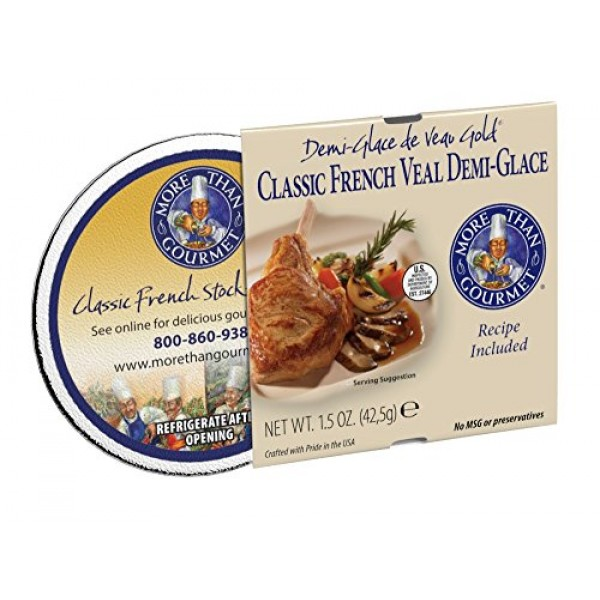 More Than Gourmet Demi-glace De Veau Gold, Classic French Veal D...