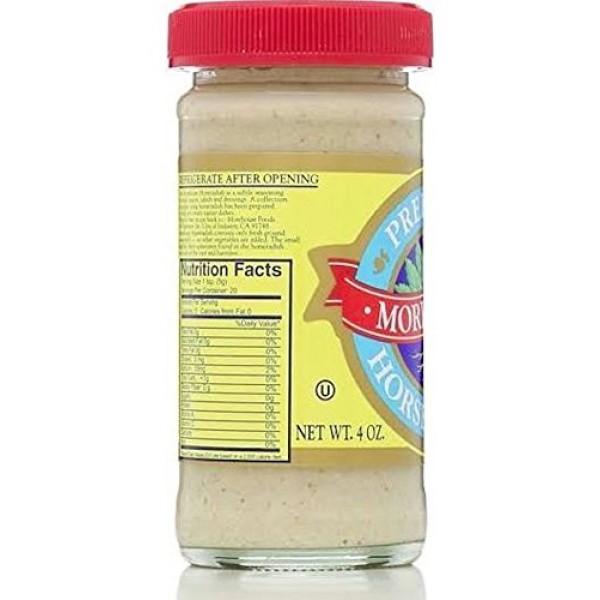 Morehouse Prepared Horseradish 4 oz Jar 2 Pack Kosher